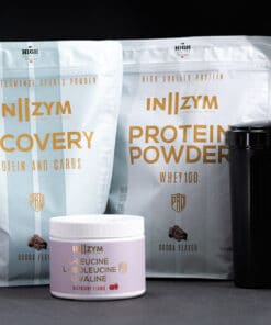 In2zym isolat proteinpulver, shaker, BCAA og recovery pulver