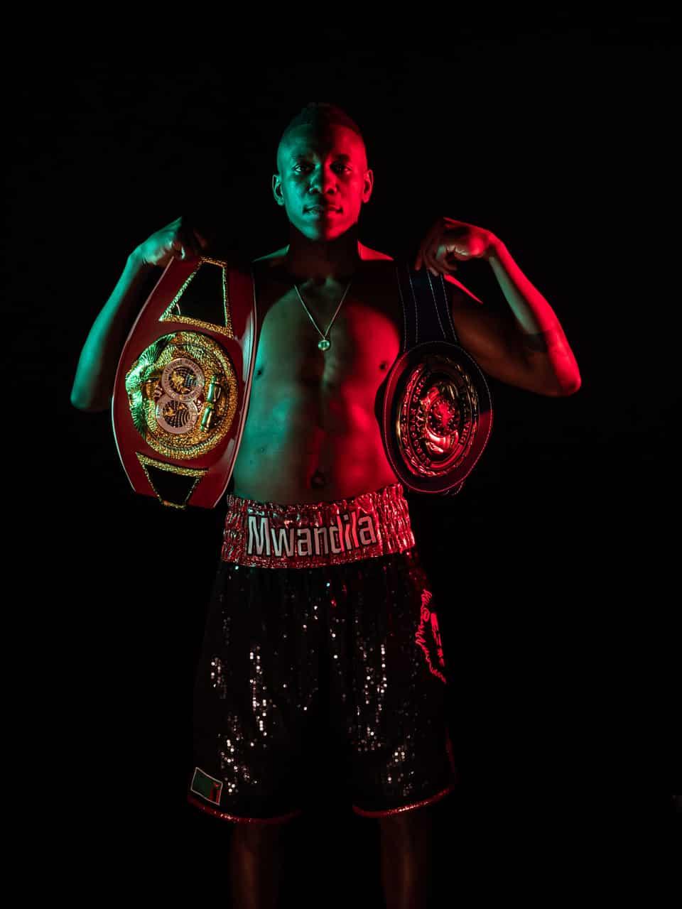 Professionel bokser Enock Mwandila Poulsen
